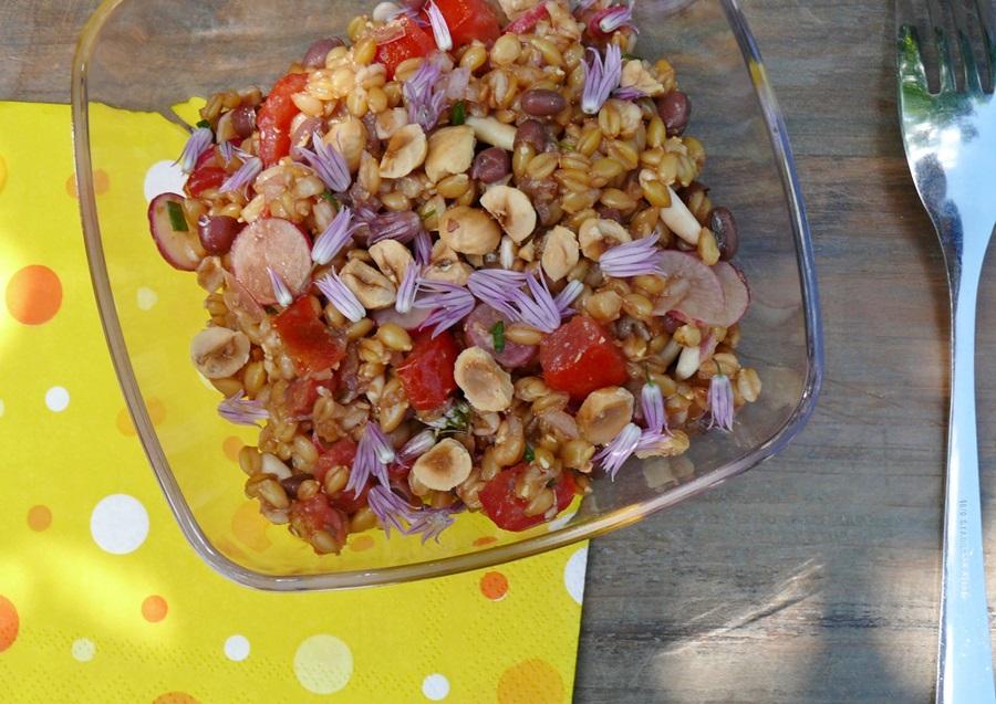 Salade de petit peautre et haricots azukis - Cuisiner le petit epeautre ...