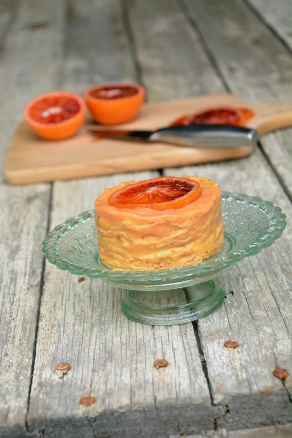 gâteau crêpes orange