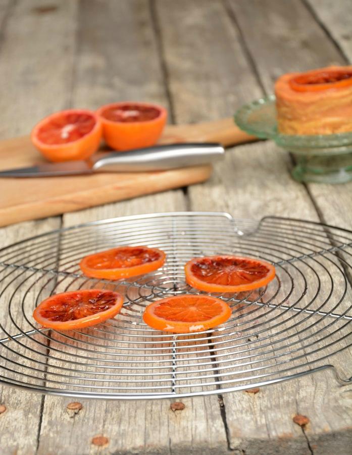 gâteau de crêpes à l'orange sanguine