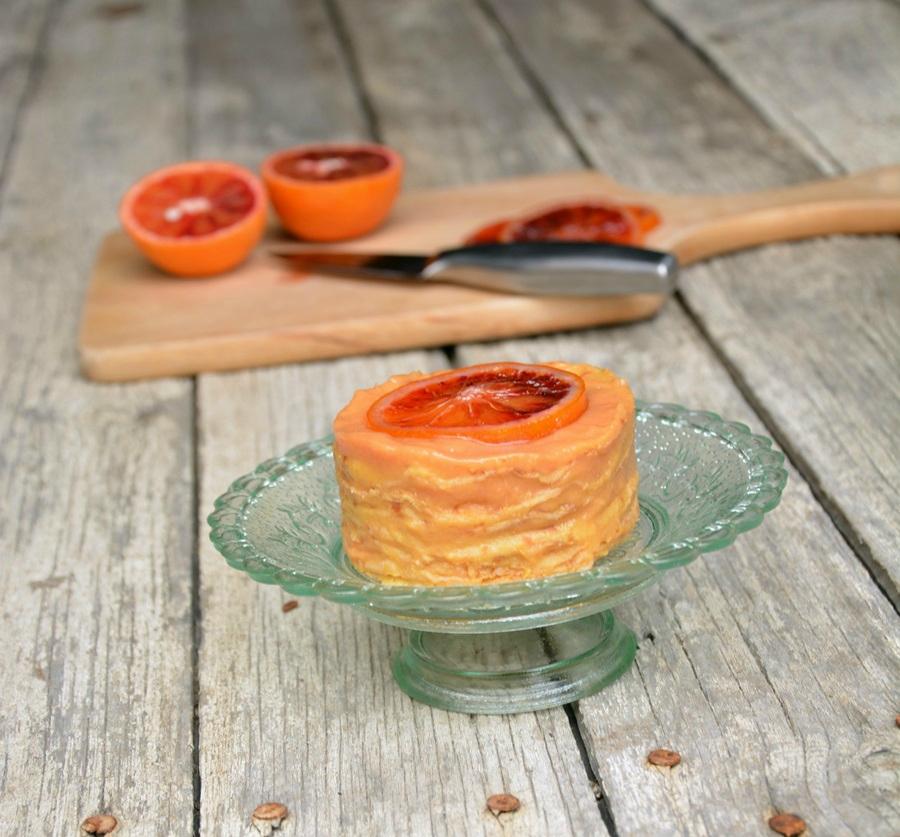 gâteau de crêpes aux oranges